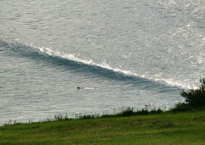 A lonely surfer in Zarautz.