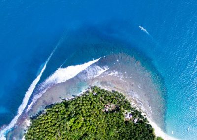 A Mentawaian island from above.